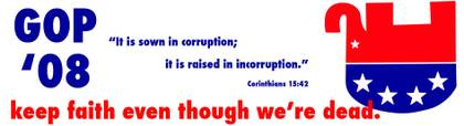 It is sown in corruption; it is raised in incorruption.